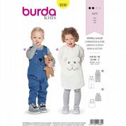 9330 Burda Pattern: Child's Overalls and Pinafore Dress
